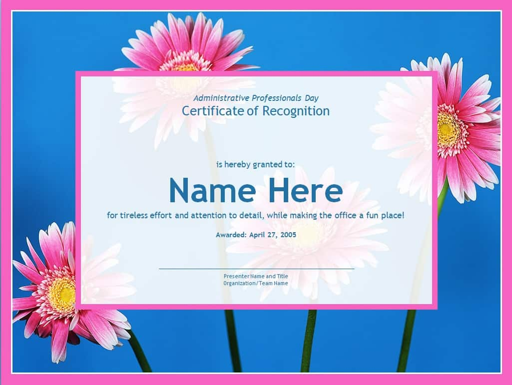 employee recognition certificate templates free