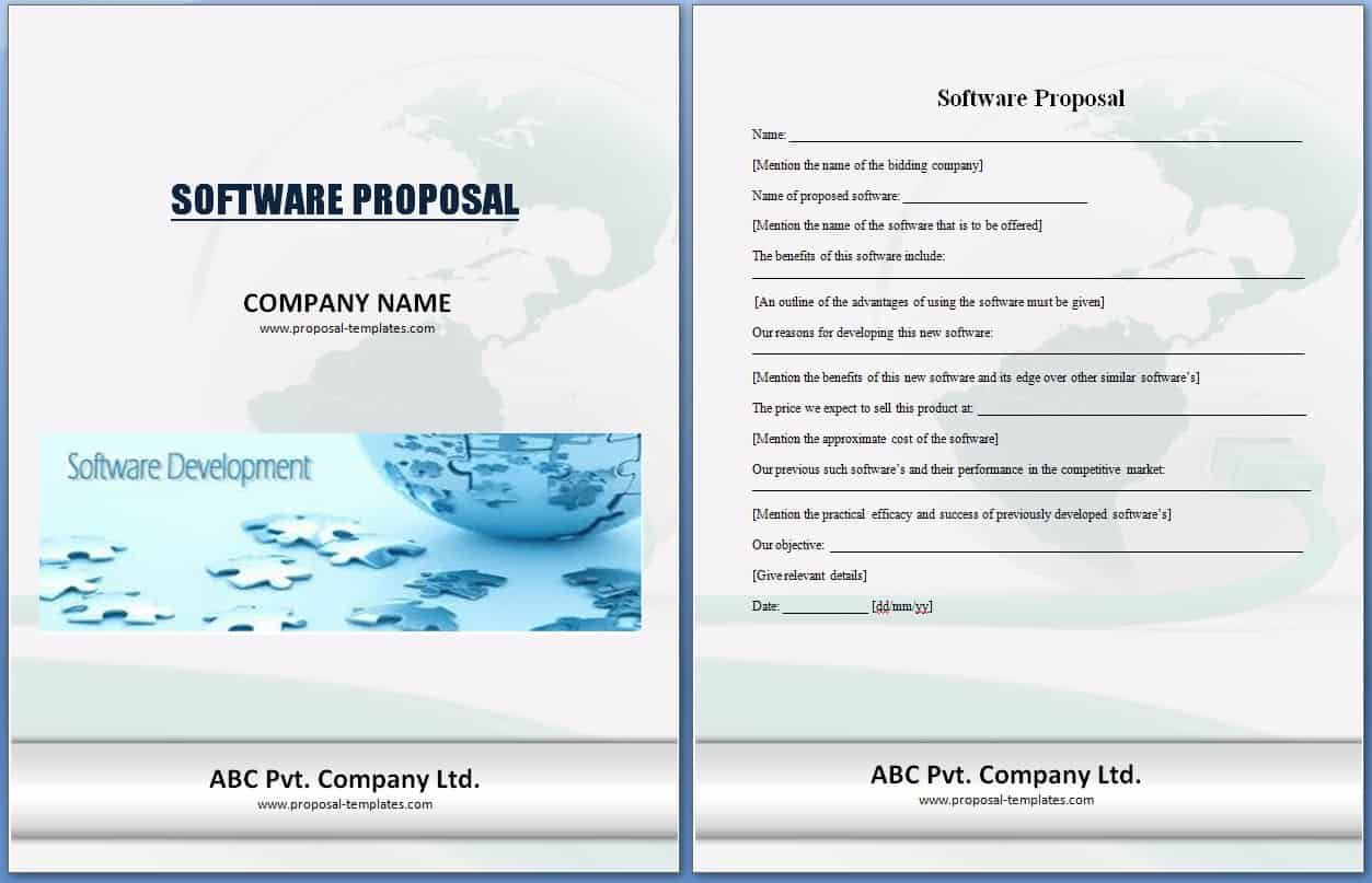 Software project proposal template excel xlts for Software project proposal template word