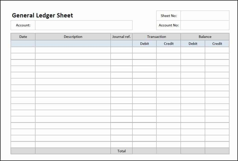 3 account ledger templates excel excel xlts. Black Bedroom Furniture Sets. Home Design Ideas