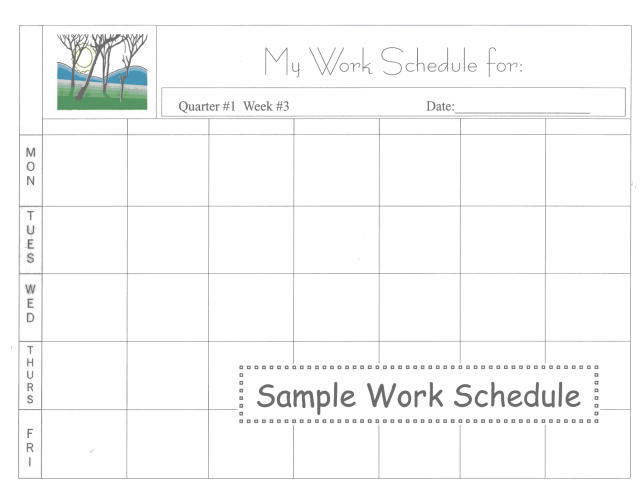 Excel Weekly Work Schedule Template