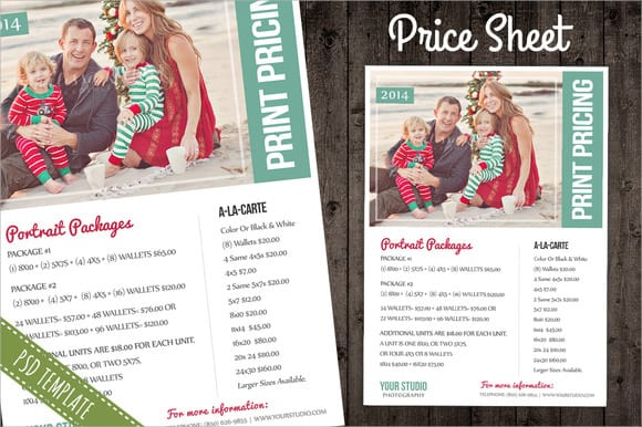 pricing template 2