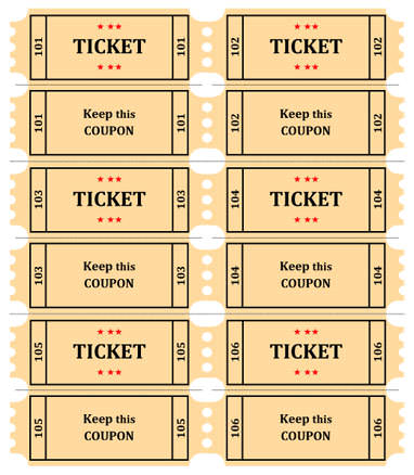 4 Raffle Ticket Templates Excel Xlts