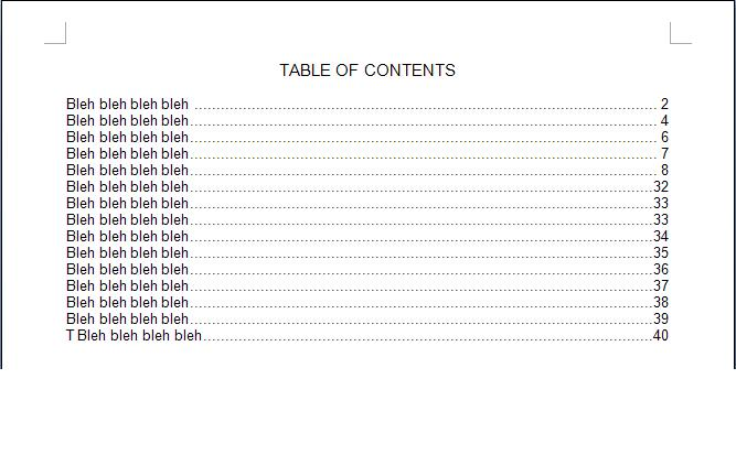 4 table of contents templates excel xlts