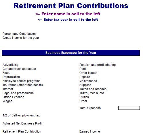 401k contribution calculator template 4