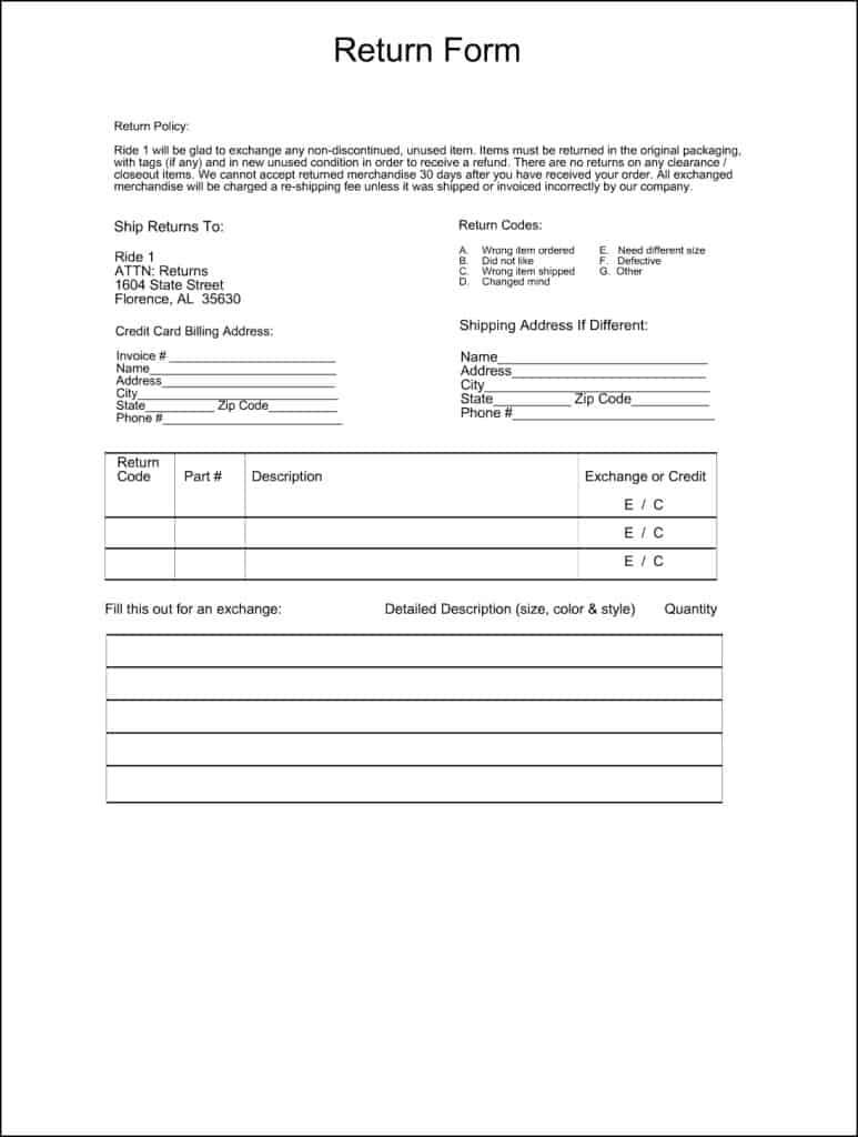 merchandise return form template 28 images index of wp content uploads 2016 02 return. Black Bedroom Furniture Sets. Home Design Ideas