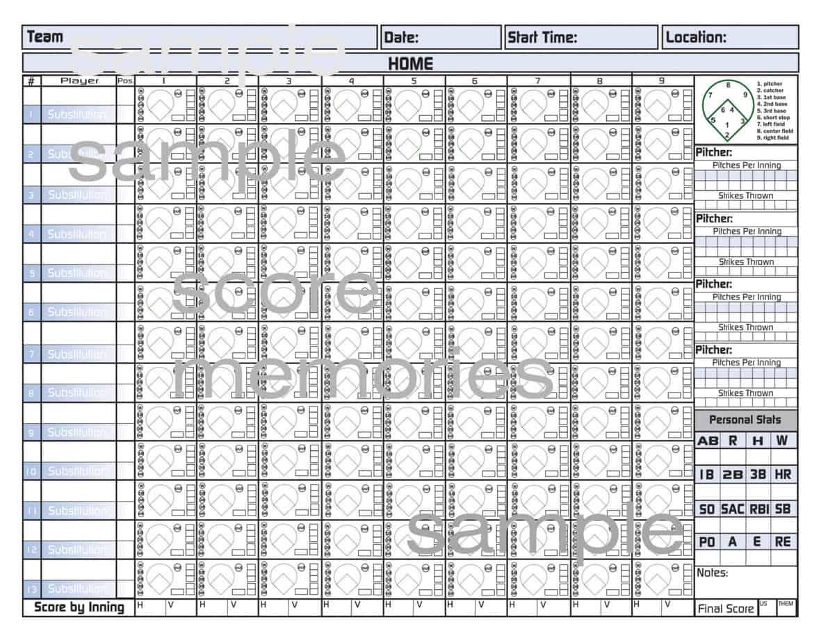 baseball score sheet template 1