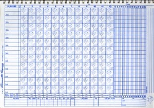 4 printable baseball scorecard sheet templates excel xlts for Softball scorecard template