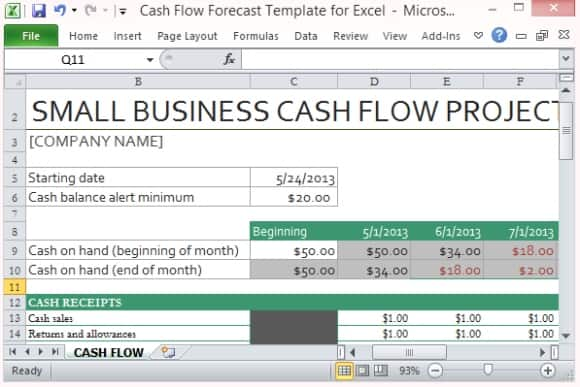 Free Cash Flow Statement Template Excel