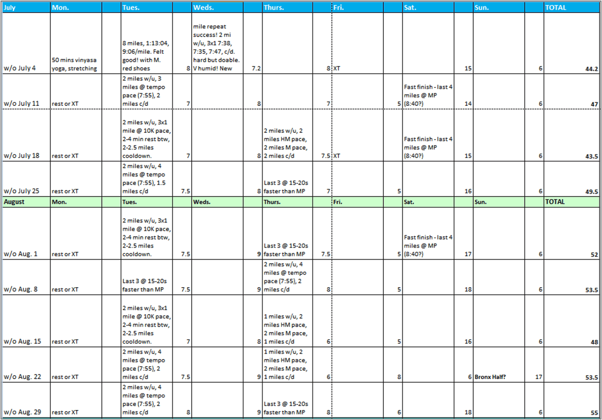 excel workout template 1