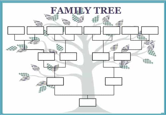5 family tree word templates excel xlts for Family history charts templates
