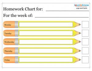 Homework Schedule Templates - Excel xlts