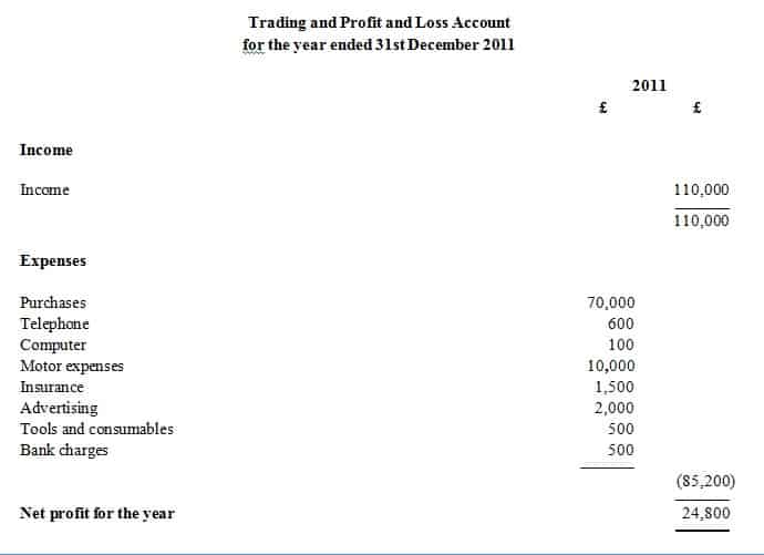 Doc736966 Simple P and L Template Doc12751650 Simple Profit – Examples of Profit and Loss