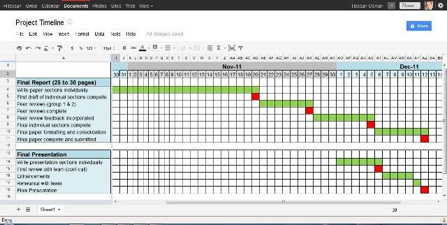 4 project timeline excel templates excel xlts for Project schedule template xls