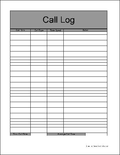 4 sales call log excel templates