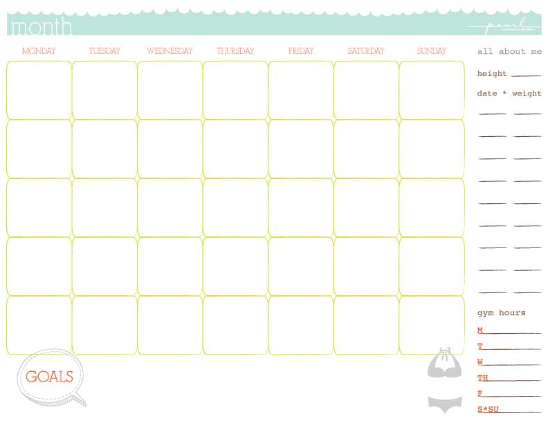 Workout Calendar Template : Workout calendar templates excel xlts