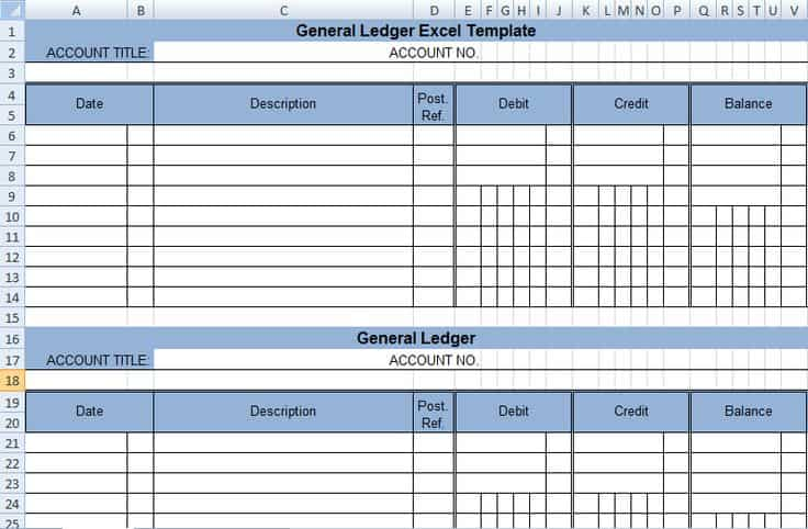 4 Ledger Statement Formats In Excel - Excel Xlts