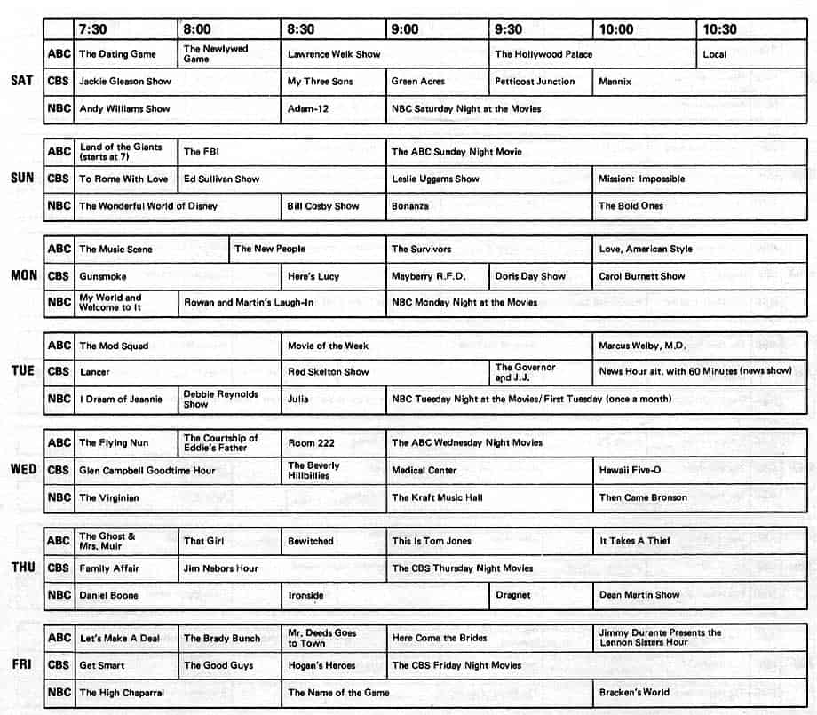 4 TV Programs Schedule Templates