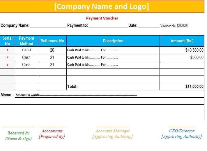 payment voucher template excel xlts