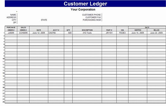3 excel ledger templates