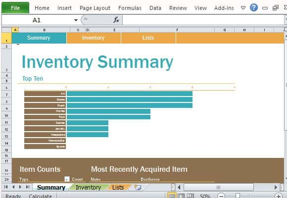 inventory list template 5