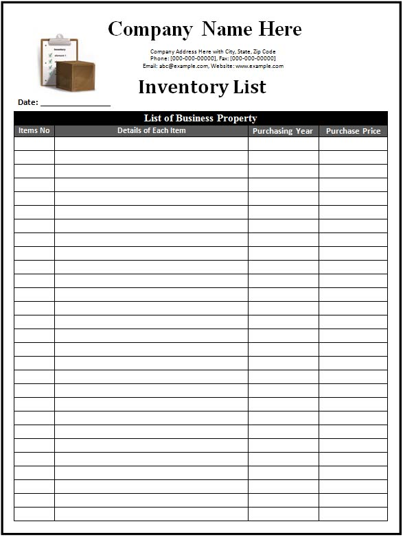 3 inventory templates spreadsheet excel word excel formats. Black Bedroom Furniture Sets. Home Design Ideas