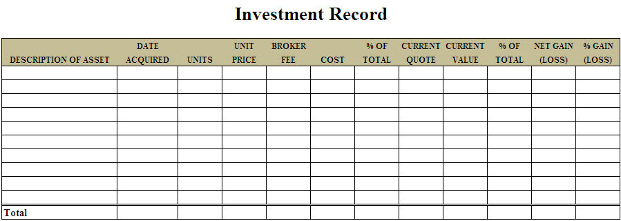 3 Investment Templates Excel Excel Xlts