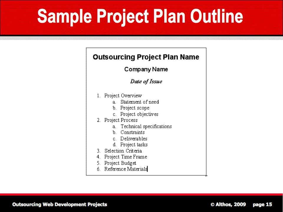 project outline template 1