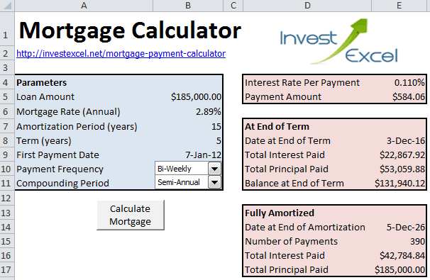 Mortgage Accelerator Calculator Template 1
