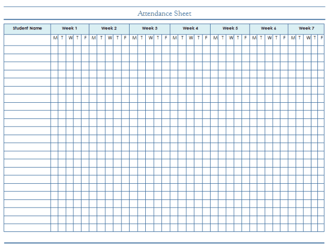 attendance excel template 2
