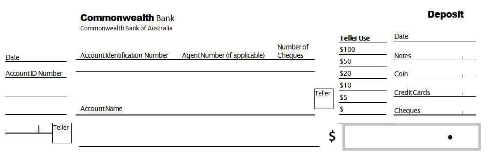 This is a graphic of Bank Deposit Slips Printable pertaining to payment