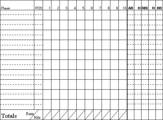 baseball score sheet template 4