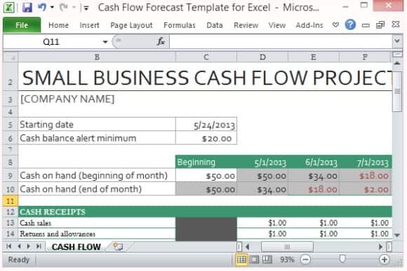 cash flow statement template 3