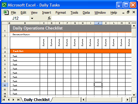 daily checklist template preview 2