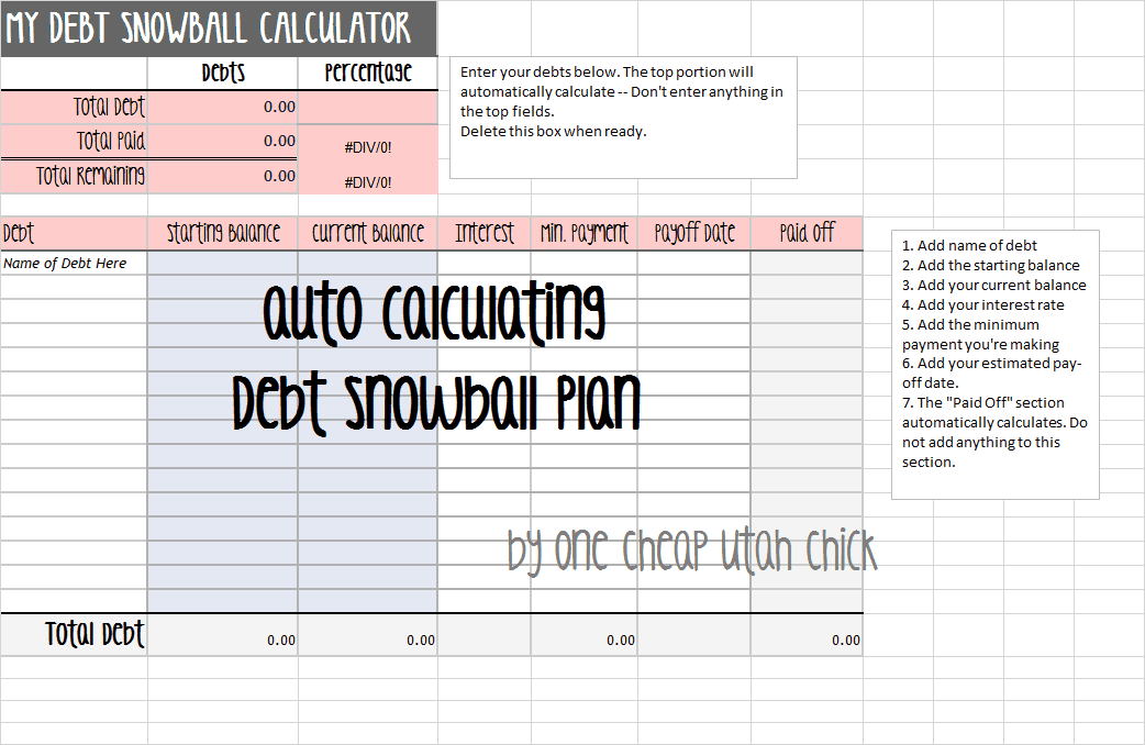 debt snowbasl template 4
