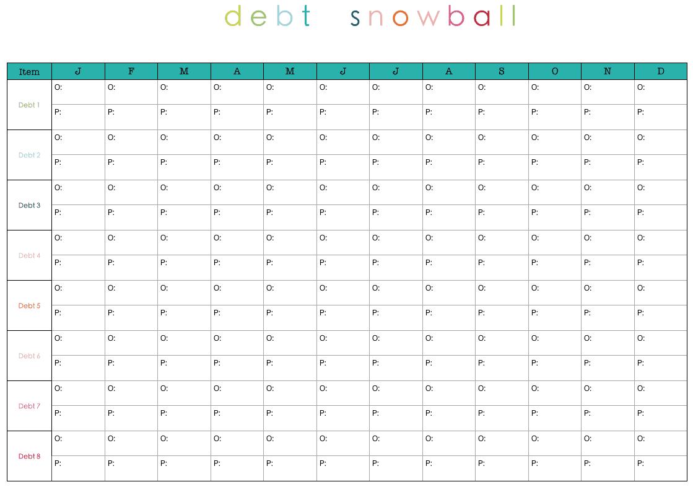 debt snowbasl template 5