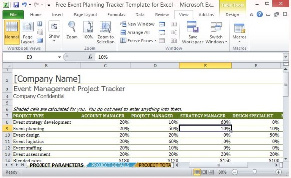 3 Event Planning Budget Templates - Excel xlts