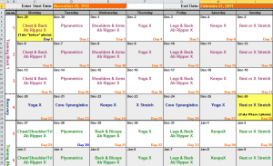 3 Excel Workout Templates - Word Excel Formats