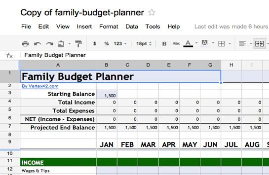 financial plan template preview 4
