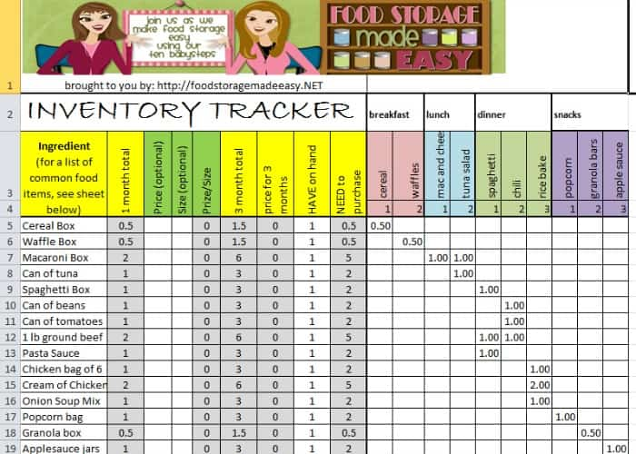 grocery inventory list preview 1