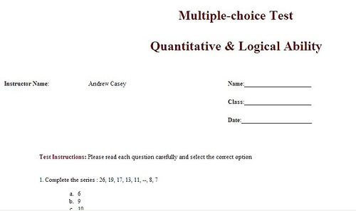 multiple test template preview 4