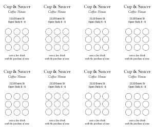 punch card template preview 2