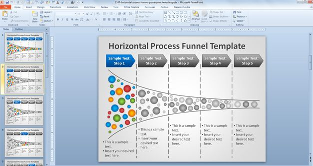 sales funnel template preview 2