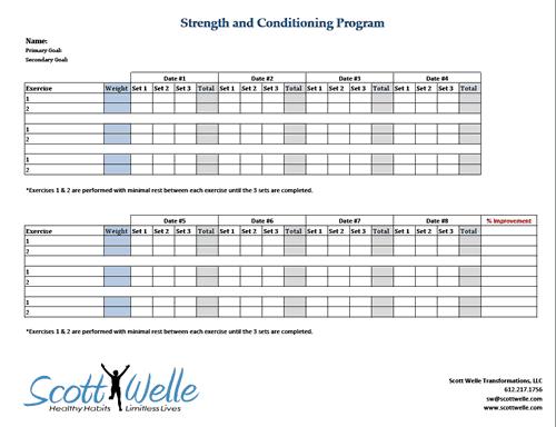 weight training spreadhseet template 2