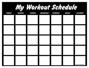 workout calendar template 2