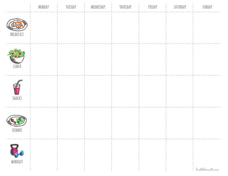 workout schedule template 1