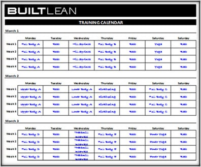 workout schedule template 3