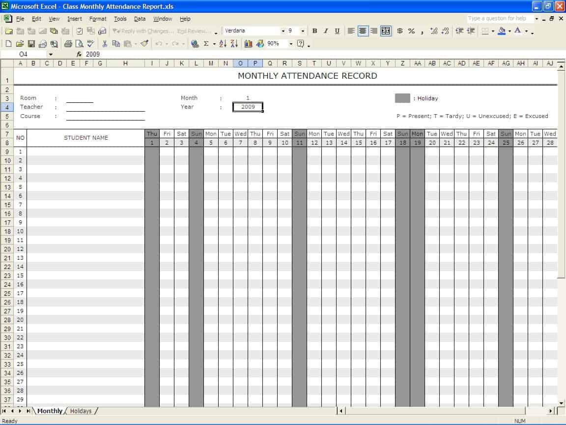 attendance register template 444