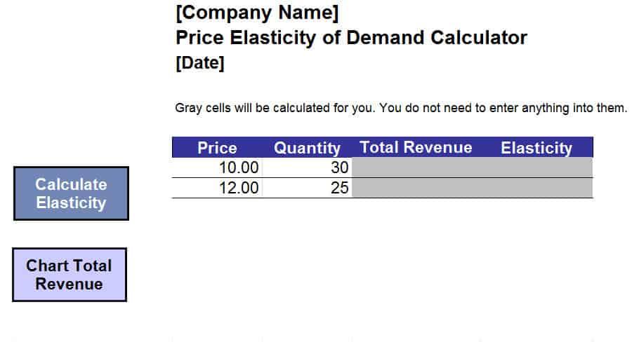elasticity of demand calculator 33