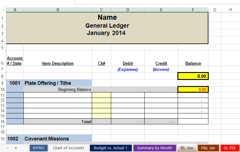 ledger statement template 22
