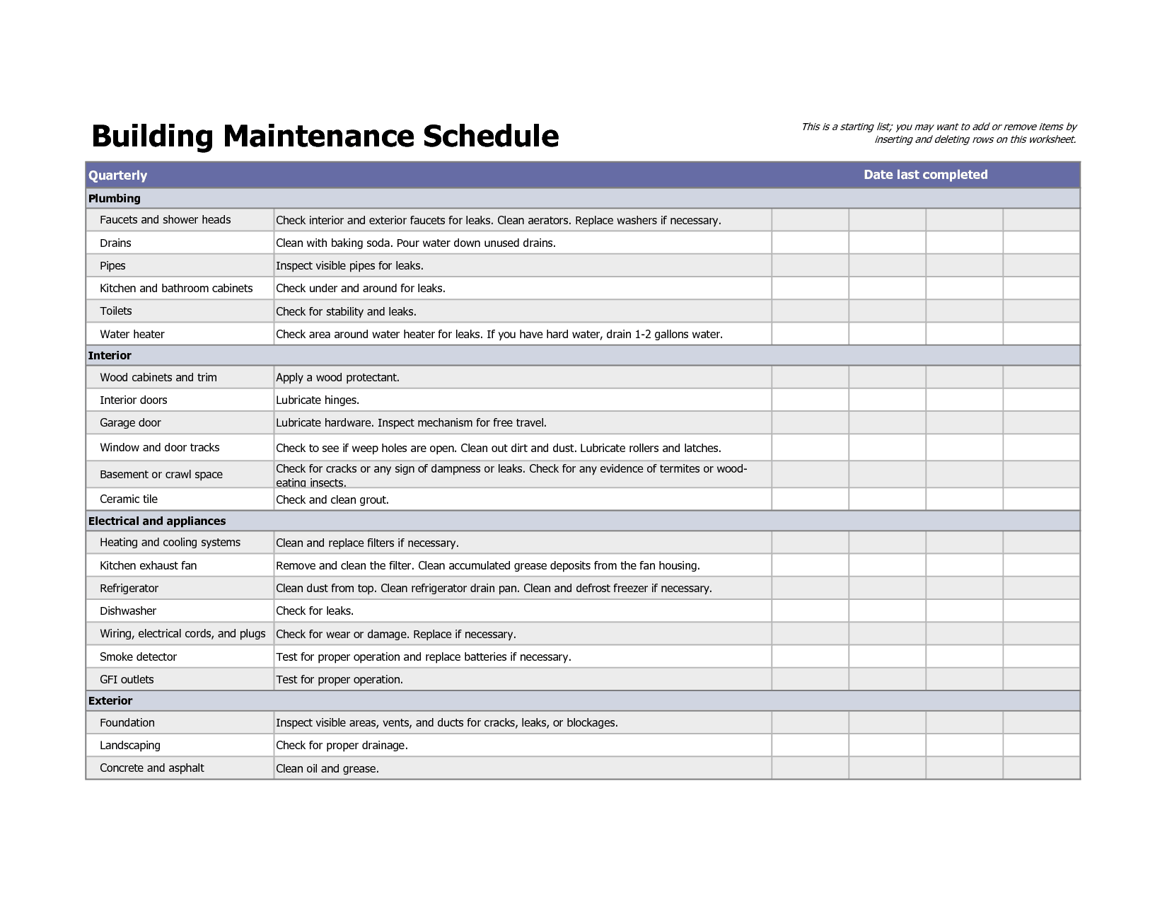 maintenance template 11